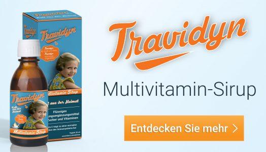 Mehr Informationen zum Multivitamin-Sirup von Travidyn!