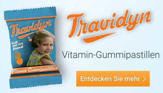 Mehr Informationen zu den Vitamin-Gummipastillen von Travidyn!
