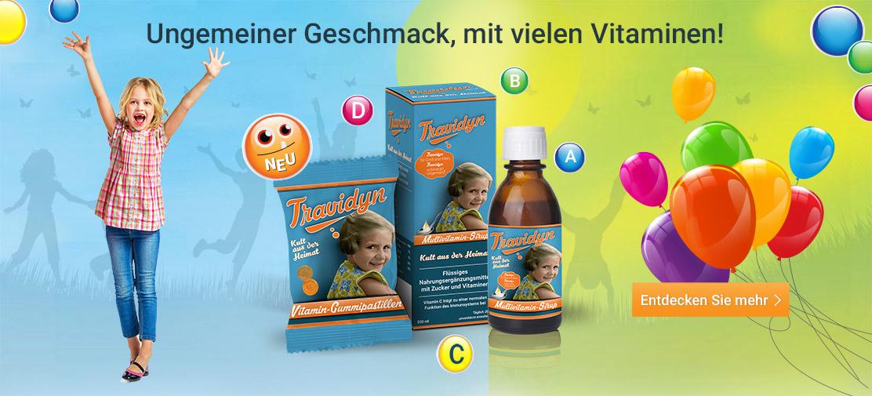 In welchen Geschäften ist Travidyn Multivitamin-Sirup und Travidyn Vitamin-Gummipastillen erhältlich?